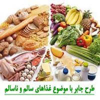 طرح جابر با موضوع غذاهای سالم و ناسالم